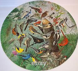 RARE Vintage SPRINGBOK CIRCULAR Round Puzzle FAMILIAR BIRDS Complete W. Dilger