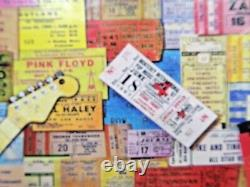 ROCK MEMORIES White Mountain 1000 Piece Puzzle Concert Ticket Collage SEALED