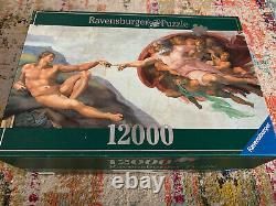 Rare 12000 Piece Ravensburger Jigsaw Puzzle, The Creation of Adam, Michelangelo