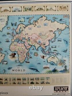 Rare Delight! Liberty Puzzles The World Map 1,017 Stunning Wooden Pieces