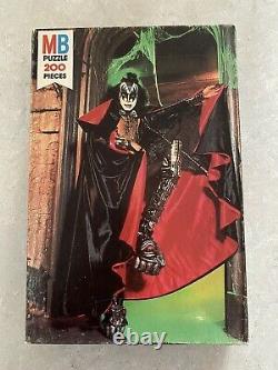 Rare Htf Sealed Kiss Gene Simmons Milton Bradley Jigsaw Puzzle From 1978