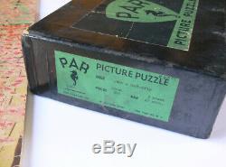 Rare vintage PAR handcut WOOD jigsaw PUZZLE Just a Butterfly Madame 500 pieces