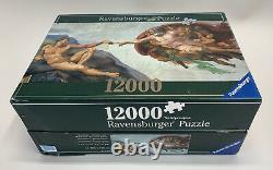 Ravensburger 12,000 Piece Puzzle Michelangelo The Creation of Adam New Rare