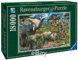 Ravensburger Adult Jigsaw Puzzle At The Waterhole, Cardboard 18000Pcs 109x75.5