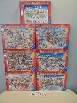 ravensburger disney christmas puzzle lot 13 boxes - Ravensburger Christmas Puzzles