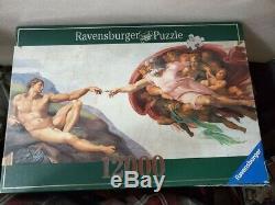 Ravensburger Puzzle Michelangelo La Creation D' Adam 12000 Pieces Sealed Bags
