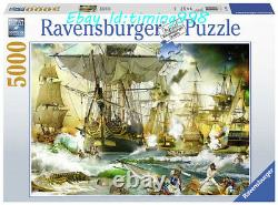 Ravensburger Warship Sailing High Seas War 5000 Adult Decompression Puzzles Toys