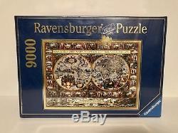 Ravensburger puzzle 9000 Pieces Big World Map 1611 Pieter van der Keere Sealed