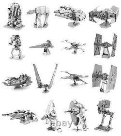 SET of 16 Fascinations Metal Earth Star Wars 3D Laser Cut Steel Puzzle Model Kit