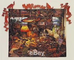 STAVE Wooden Jigsaw Puzzle Charles Wysocki 232 Pieces Complete 2009 Cat Cabin