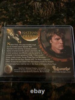 Serenity Autograph Auto card Nathan Fillion as Mal A1 Inkworks