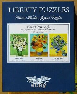 Special Edition Liberty Wooden Jigsaw Puzzle Van Gogh Flower Trio 640 Pieces