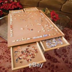 Standard Size Wooden Board Puzzle Fiberboard Storage Jigsaw Caddy Accessory