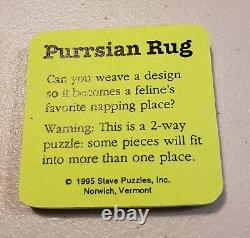 Stave Two-Way Trick Puzzle Purrsian Rug 1995 3 Lightning Bolts