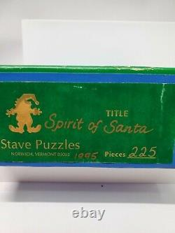 Stave Wooden Puzzle 227 Pieces The Spirit of Santa Christmas Themed 1995 Vintage