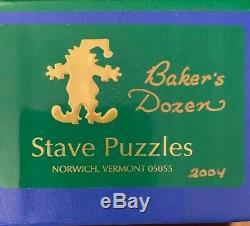 Stave Wooden Teaser Puzzle Baker's Dozen