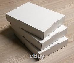 Stülpdeckelkarton für A4, weiß, 100er Pack, zum Sortieren, Basteln, Geschenkbox