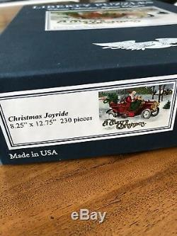 THREE Liberty Wooden Jigsaw Puzzles-Christmas
