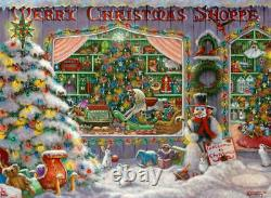The Christmas Shoppe 500 Piece Holiday BRAND NEW FREE SHIPPING