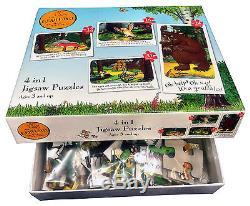 The Gruffalo Julia Donaldson Axel Scheffler 4 in 1 Jigsaw Puzzles Box Gift Set