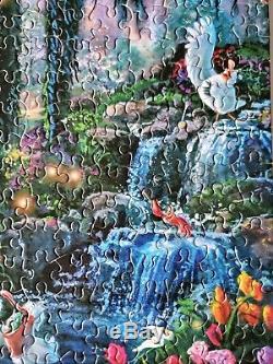 Thomas Kinkade Disney The Little Mermaid Kiss The Girl 750 Piece Puzzle HTF RARE