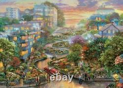 Thomas Kinkade San Francisco Lombard Street II 1000-Piece Puzzle FREE SHIPPING