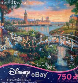 Thomas Kinkade Studios Disney's 101 Dalmatians 750 Ceaco Puzzle