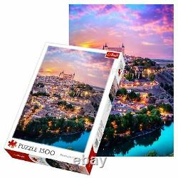 Trefl 1500 Piece Kids Large Toledo Spain City Lights Sunset Jigsaw Puzzle NEW