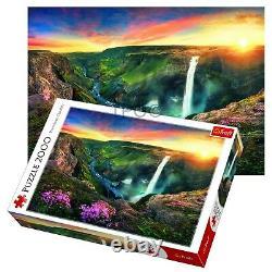 Trefl 2000 Piece Adult Large Image Haifoss Waterfall Iceland Jigsaw Puzzle NEW