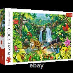 Trefl 2000 Piece Adult Large Tropical Forest Wildlife Bird Leopard Jigsaw Puzzle