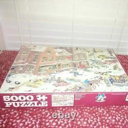 VERY RARE-JAN VAN HAASTEREN 5000 piece puzzle-STREETLIFE, 100% complete