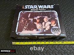 VINTAGE Factory Sealed Star Wars 1977 Kenner 1000x Puzzle Luke Han Chewie Kenobi