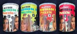 Vintage1967 PLAYBOY Playmate Centerfold Complete Jigsaw Puzzle Lot of 4
