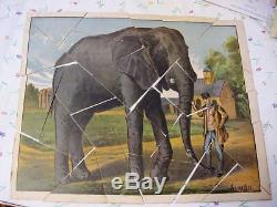 Vintage 1860's Peter G Thomson Cut-Up Puzzle Jumbo Elephant