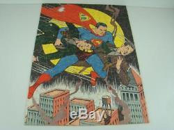 Vintage 1940 Superman Puzzle Superman Shows His Super Strength