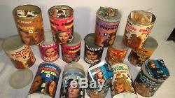 Vintage 1960's 1970's Playboy Playmate Jigsaw Puzzle Tin Lot x15 Cans