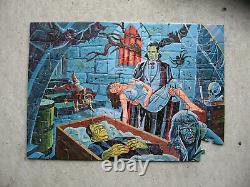 Vintage 2 monster puzzles Frankenstein+Dracula (1963) Jamar