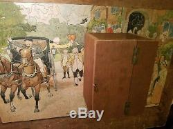 Vintage 505 pc Wood Jigsaw Puzzle A Grand Sendoff 15.5 x 24.75 AWESOME