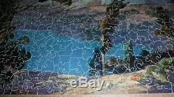 Vintage Complete Wood Parker Pastime 500 pc Jigsaw Puzzle Cascade Mountains