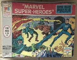 Vintage Milton Bradley 1967 MARVEL FANTASTIC FOUR JIGSAW PUZZLE! MARVELMANIA