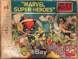 Vintage Milton Bradley 1967 MARVEL SUPER HEROES JIGSAW PUZZLE! RARE MARVELMANIA