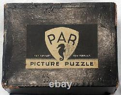 Vintage PAR Picture Puzzle Wood Jigsaw Flying Feet USA 1930s Rare 970 Pieces