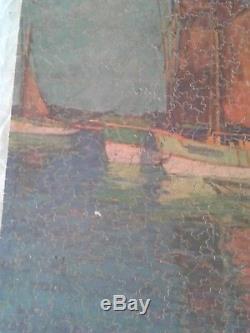 Vintage Par Picture Puzzle Complete Red Sails Complete! Wooden 400 pieces