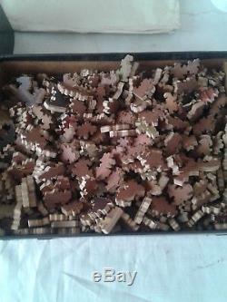Vintage Par Picture Puzzle The Gigantic Boy Scout Wooden 500 pieces
