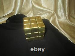 Vintage Playable Rubik's Rubix Cube Brass Metal 3X3 Rare