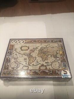 Vintage Schmidt Jigsaw Puzzle Ancient World Map- 6000 Pieces New & Sealed