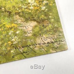 Vintage VICTORY ARTISTIC Gold Box 900pc Wooden Jigsaw Puzzle 100% COMPLETE