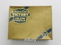 Vintage Victory Gold Box Wooden Super Cut Jigsaw Puzzle 300Pc Landscape