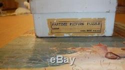 Vintage Wood Parker Pastime 300 pc Jigsaw Puzzle Rest Beside The Nile Comp