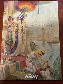 Vintage Wooden PASTIME Jigsaw PUZZLE Parker Brothers Finding of Moses 395